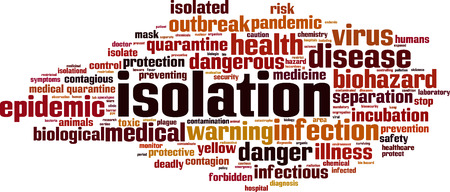 Isolation word cloud concept. Vector illustration