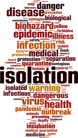 incubation: Isolation word cloud concept. Vector illustration