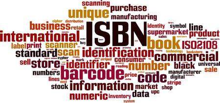 ISBN word cloud concept. Vector illustration
