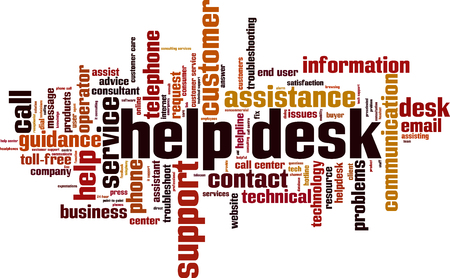 Help desk word cloud concept.