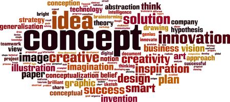 Concepto concepto de nube de palabras. Ilustración del vector Foto de archivo - 84264464