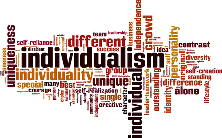 Individualism word cloud concept. Vector illustration