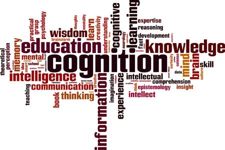cognizance: Cognition word cloud concept. Vector illustration