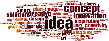Idea concepto de nube de palabras. Ilustración vectorial Foto de archivo - 84172902