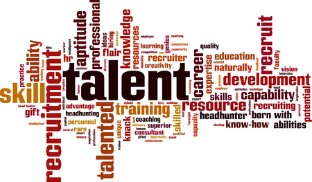 Talent word cloud concept. Vector illustration.