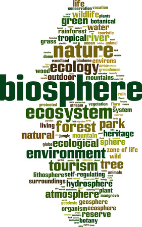 Biosphere word cloud concept. Vector illustration Illustration
