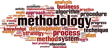 methodology word cloud concept. Vector illustration Vettoriali