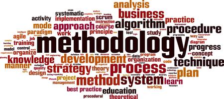 methodology word cloud concept. Vector illustration Illustration