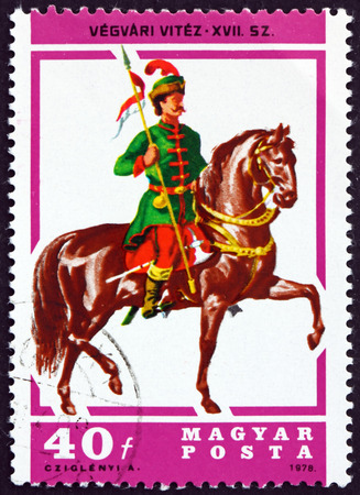 HUNGARY - CIRCA 1978: a stamp printed in Hungary shows Lancer, 17th Century, circa 1978
