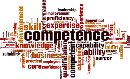 Competence word cloud concept illustration Illustration