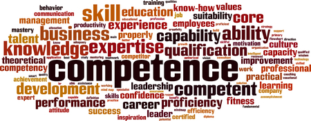 Competence word cloud Illustration