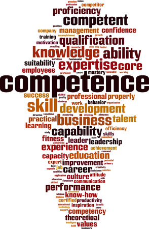 Competence word cloud concept.