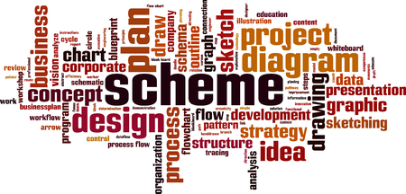 Scheme word cloud concept. Illustration