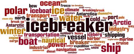 砕氷船単語雲の概念図  イラスト・ベクター素材