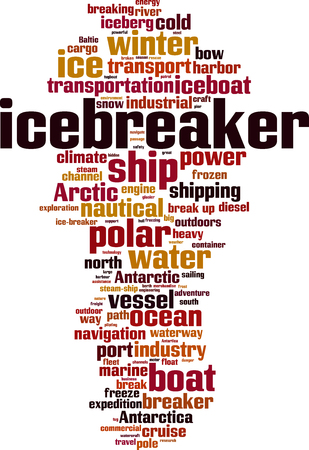 Icebreaker word cloud concept illustration