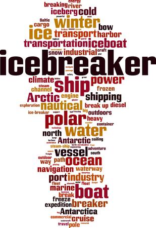 Icebreaker word cloud concept illustration