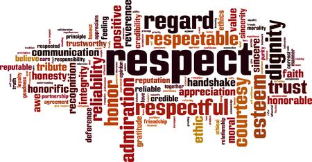Respect word cloud concept illustration 일러스트