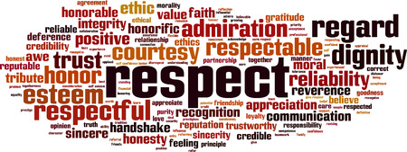 Respect word cloud concept illustration Ilustrace