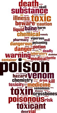 Poison word cloud concept. Vector illustration