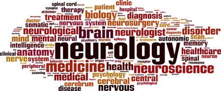 Neurology word cloud concept. Vector illustration Vectores