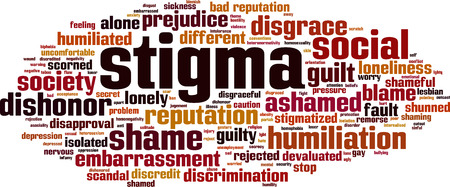 Stigma word cloud concept