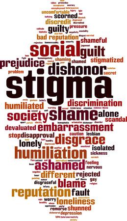 Stigma word cloud concept