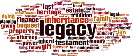 Legacy-Wort-Cloud-Konzept