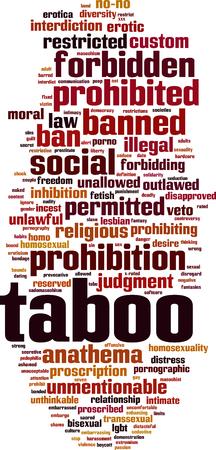 Concept de nuage de mot tabou. Illustration vectorielle Banque d'images - 87707444