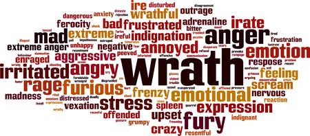 frenzy: Wrath word cloud concept. Illustration