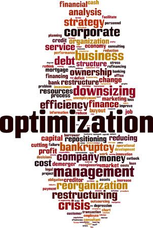 Optimization word cloud concept. Vector illustration 向量圖像