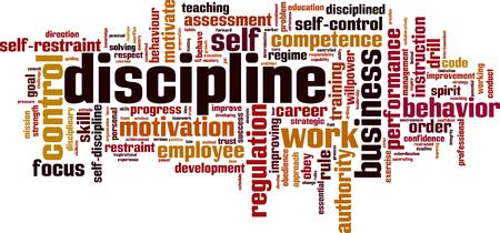 Discipline word cloud concept. Vector illustratie