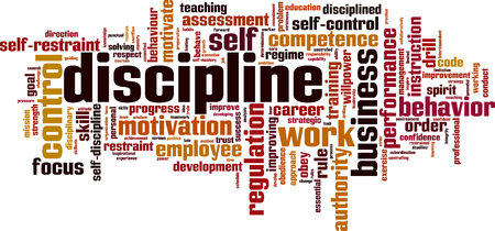 Discipline word cloud concept. Vector illustration Illustration
