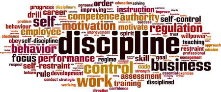 Discipline word cloud concept. Vector illustration Çizim