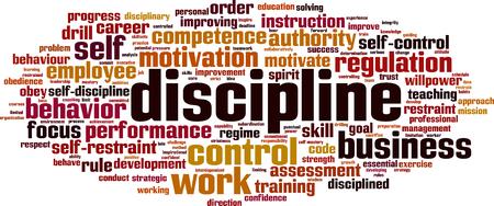 Discipline word cloud concept. Vector illustration Illustration