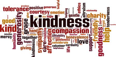 Concept de nuage de mot de gentillesse. Illustration vectorielle