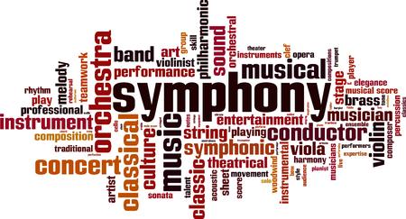Symphony word cloud concept. Vector illustration