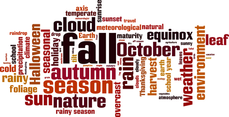 Fall word cloud concept, vector illustration.