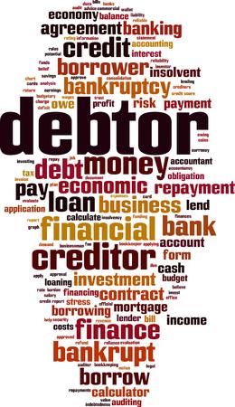 Debtor word cloud concept