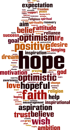 Hope word cloud concept. Vector illustration