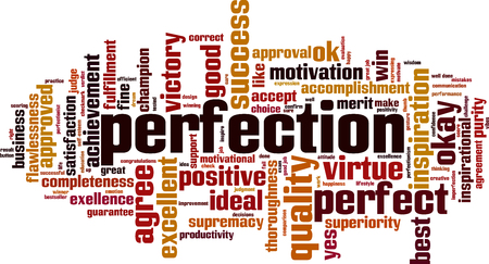 Perfection word cloud concept. Vector illustration