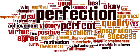 Perfection word cloud concept Illustration