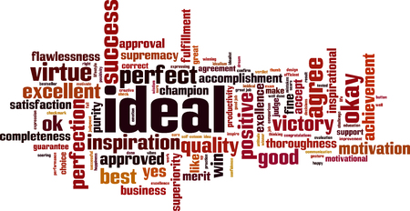 Ideal word cloud concept. Vector illustration