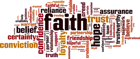 Faith word cloud concept. Vector illustration