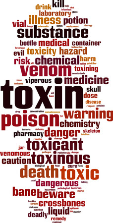 Toxin word cloud concept. Vector illustration