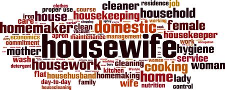 Concept de nuage de mot housewife. Illustration vectorielle Vecteurs