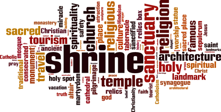 Shrine word cloud concept. Vector illustration