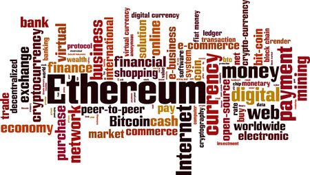 Ethereum word cloud concept. Vector illustration