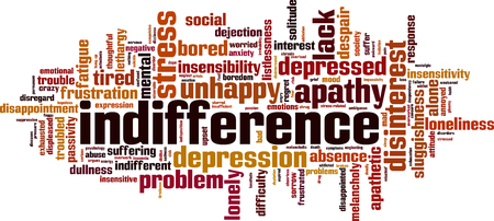 Indifference word cloud concept. Vector illustration