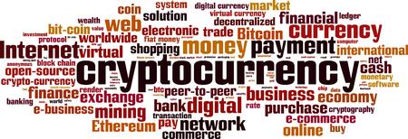 Concept de nuage de mot Cryptocurrency. Illustration vectorielle Banque d'images - 89832936