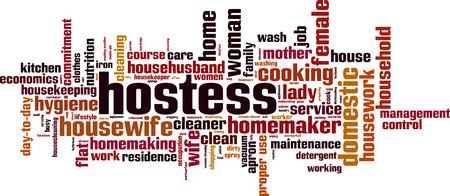 Concetto della nuvola di parola hostess. Illustrazione vettoriale